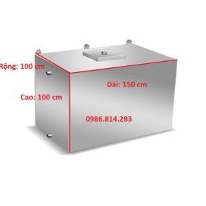 bể nước inox 1500 lít