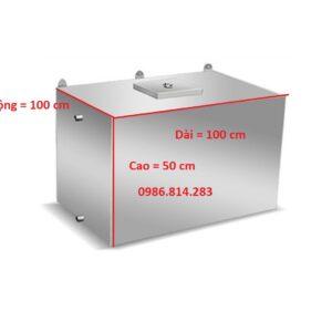 bể nước inox 500 lít