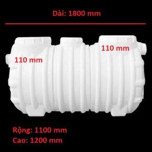 Bể tách mỡ nhựa 2376 lít