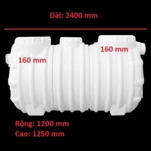 Bể tách mỡ nhựa 3600 lít