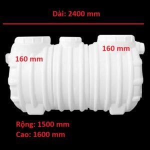 Bể tách mỡ nhựa 5760 lít