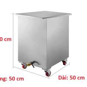 kích thước thùng chứa dầu đã qua sử dụng inox 200 lít