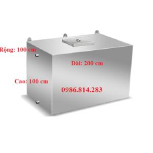 bể nước inox 2000 lít tương đương 2 mét khối