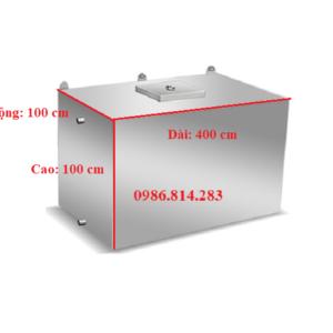 bể nước inox 4000 lít