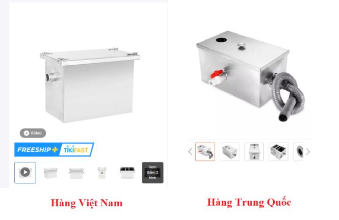 So sánh bể tách mỡ Việt Nam và bể tách mỡ Trung Quốc